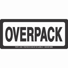 LR21 Black and White OVERPACK Labels 6in x 2.5in(Roll of 500 labels)