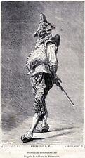 Pulcinella: POLICHINELLE.Maschere.Mascherata.Carnevale.Costumi.PASSEPARTOUT.1873