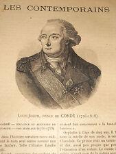 Louis-Joseph Prince de Condé 1736-1818 Colonel général de l'Infanterie