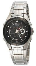 Casio EFA119BK-1A Edifice Mens 100M Stainless Steel Dress Watch Thermometer