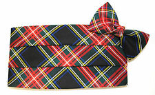 Christmas Tartan Plaid Cummerbund and Bow Tie Set