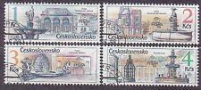 CZECHOSLOVAKIA 1988 USED SC#2705/08 PRAGA`88 Prague fountains