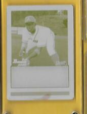 2009 Bowman Draft Pick Printing Plate Braves MYCAL JONES 1/1 Yellow Rookie