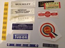 Wolseley Hornet Engine Bay Sticker Pack - Everything you need for your car