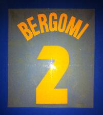 inter kit BERGOMI flock giallo ocra Nameset maglia calcio umbro