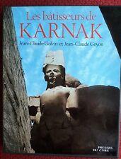 Coffret CNRS : J. Lauffray Karnak d'Égypte + JC Golvin Karnak batisseurs
