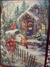 Leanin Tree Christmas Card Set Beautiful Country Cottage 10 Pk New !