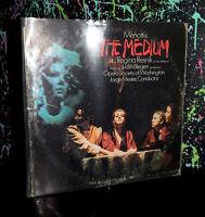 1970 MENOTTI'S THE MEDIUM LP RECORD dark opera spooky halloween music haunted