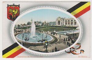 Bruxelles Exhibition 1910 postcard - Le Bassin (A36)