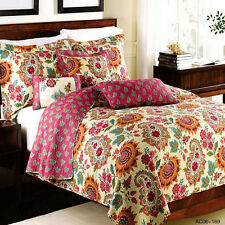 Cotton Quilt Bedspreads Set Premium Patchwork Coverlet Queen King Size Throw Rug