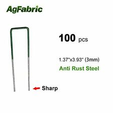 Agfabric 100-Pack Anti-Rust Ground Staples Garden Securing Pegs for Weed Fabric
