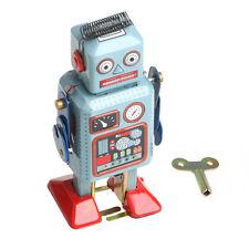 Mechanical Clockwork Wind Up Walking Tin Robot Toy Kids Vintage Gift Collection