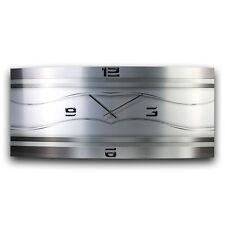 Silverline Metallic Wanduhr leise Funkuhr modernes Design * Made in Germany