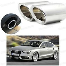 2Pcs Car Exhaust Muffler Tip Tail Pipe Trim Silver for Audi A5 2012-2017 #2034