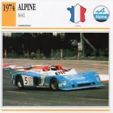1974 ALPINE A441 Racing Classic Car Photo/Info Maxi Card