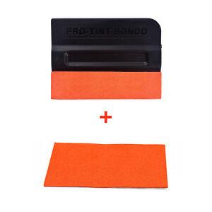 10PCS Pro-Tint Bondo Suede Edge Squeegee W/ 3pcs Wrapped Felt Tinting Scraper