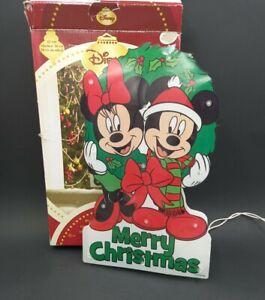 Disney Lighted Mickey & Minnie Mouse Christmas Sculpture Window Décor