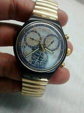 Nice vintage Swatch swiss world time chronograph watch