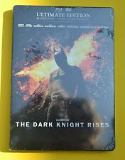 BATMAN STEELBOOK THE DARK KNIGHT RISES FRENCH ULTIMATE 3 DISC BLURAY REGION FREE