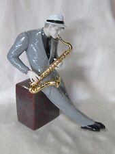 LLADRO #9330 JAZZ SAXOPHONIST BRAND NEW IN BOX MUSICIAN GOLD INSTRUMENT F/SH