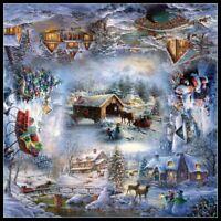 Christmas Snow - DIY Chart Counted Cross Stitch Patterns Needlework 14 ct