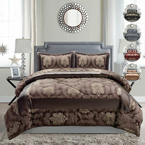Reversible Bedspread Coverlet Set Jacquard Quilted Bedspread Bed Throw UK Sizes
