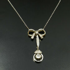 Art Deco 0,55 ct Diamant Collier Lavalière Anhänger 750 Gold Diamond Pendant