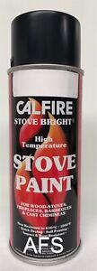 Stove Paint Calfire Stove Bright Flat Black 400ml Aerosol Heat Resistant 650°C