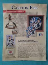 Gartlan U.S.A. - Carlton Fisk Collector'S Series Brochure 1991