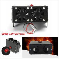 12V 600W Car Truck Heater Warmer Dual Hole Heating Fan Window Defroster Demister