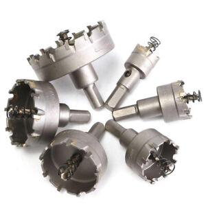 6tlg. 22-65mm Lochsäge Hartmetall Bohrkrone Metal Flachschnitt Bohrloch Säge Set