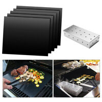 BBQ Smoker Case und 5 Stück BBQ Mat BBQ DIY Grillen Antihaft Grillmatte