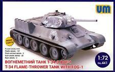 UM-MT Models 1/72 Soviet T-34 FLAME THROWER TANK with FOG-1
