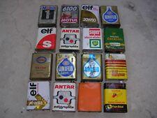 Bidons anciens huile, lot de 16 , Antar, Esso, BP, Shell, Mobil, Elf, Motul.....