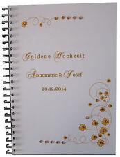 Festzeitung Goldhochzeit Goldene Hochzeit Geschenk Karte Einladung Deko # Strass