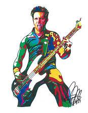 Mike Dirnt, Green Day, Bass Guitar, Punk Rock, Bassist, Musician, 8.5x11 PRINT