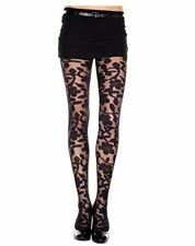MUSIC LEGS - Women's Woven Floral Design Spandex Sheer Pantyhose - One Size