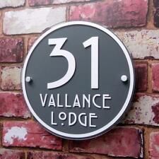House Number Sign Address Plaque Modern Glass Effect Acrylic Door Name Plate