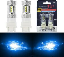 LED Light 80W 4157 Blue 10000K Two Bulbs Front Turn Signal Replacement Show Use