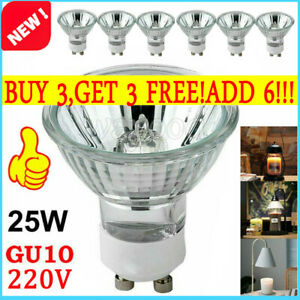 25W GU10 Dimmable Halogen Bulbs Replace Light Reflector Spotlight Down Lamp 220V