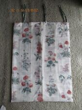 Linens & Textiles Vintage Waverly Curtain 1 Panel Beige w Flowers & Writing New