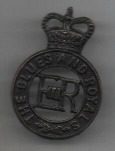 The Blues and Royals Regiment Bronze Cap Badge QC 2 Lugs