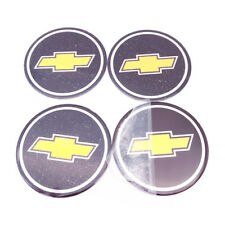 "4PCS/SET CHEVY Emblem Badge RALLY WHEEL CENTER HUB CAPS Sticker 2.5"" in diameter"