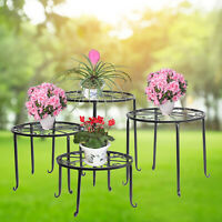 4 in 1 Wrought Iron Metal Plant Stands Indoor Outdoor Flower Pot Rack Holder USA