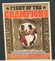 "1971 Muhammad Ali Vs. Joe Frazier ""Fight of the Champions"" Official Program MINT"