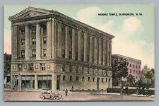 Masonic Temple—Clarksburg Wv Rare Antique West Virginia Pc Pike News 1910s