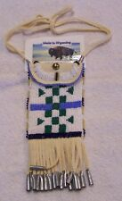 HAND MADE BEADED NECK POUCH RENDEZVOUS BLACK POWDER MOUNTAIN MAN 42