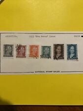 6 Argentina Stamps -1953- Eva Peron Used Hinged