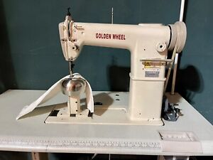 GOLDEN WHEEL HAIR WIG MAKING POST BED  INDUSTRIAL SEWING MACHINE COMPLETE SET