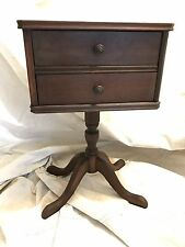 Antique Side Table 2 Drawer Dresser Nightstand Accent Table